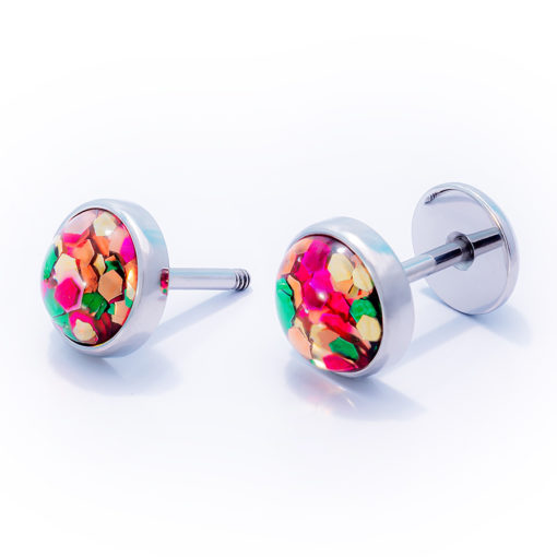 Funfetti ComfyEarrings on white background.