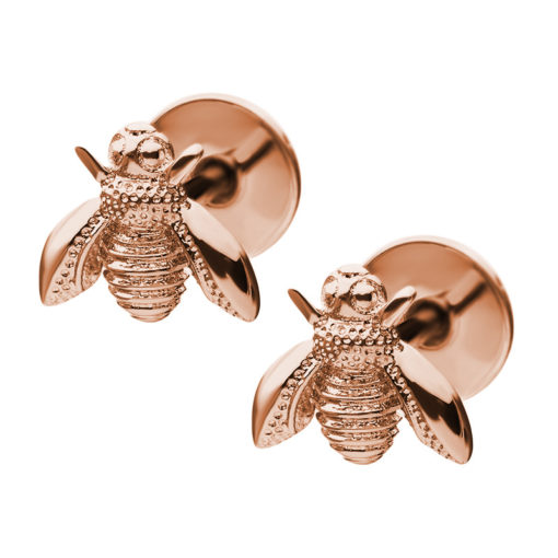 Rose Gold Bee ComfyEarrings main image.