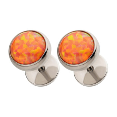 Fire Opal ComfyEarrings tilted view